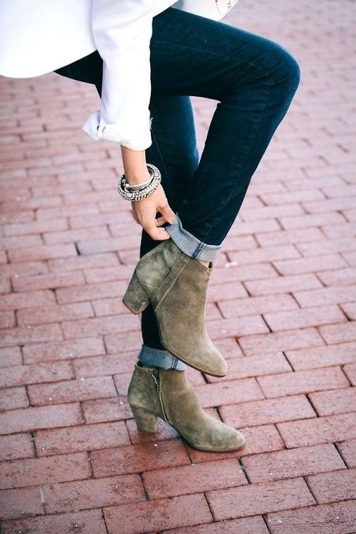 kaki-boots