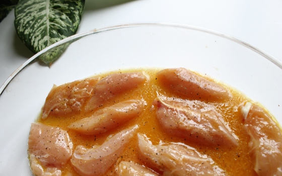 marinade de poulet orange sanguine
