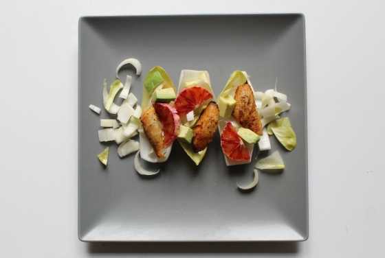 Salade de poulet orange sanguine avec endives et avocat-6