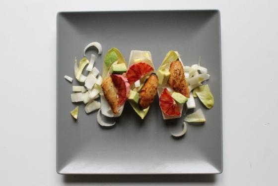 Salade de poulet orange sanguine avec endives et avocat-6